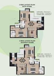 1260 sqft, 2 bhk Apartment in Builder Project Sector 115 Mohali, Mohali at Rs. 25.9000 Lacs