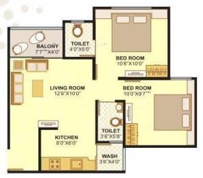 882 sqft, 2 bhk Apartment in Shree Rang Nano City 1 And 2 Sargaasan, Gandhinagar at Rs. 26.0000 Lacs