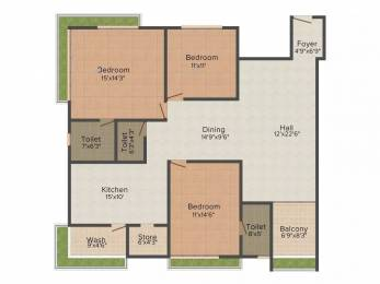 2380 sqft, 3 bhk Apartment in Raghuvir Star Galaxy Athwa, Surat at Rs. 45000