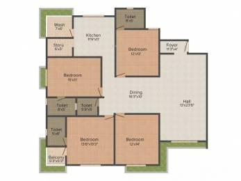 2885 sqft, 4 bhk Apartment in Raghuvir Star Galaxy Athwa, Surat at Rs. 1.1000 Cr
