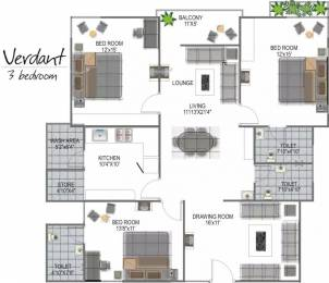1836 sqft, 3 bhk Apartment in Globus Green Acres Lalghati, Bhopal at Rs. 55.0000 Lacs