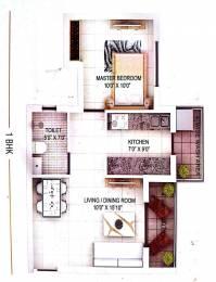 615 sqft, 1 bhk Apartment in Builder Elegent wallfort Pachpedi Naka, Raipur at Rs. 20.6025 Lacs