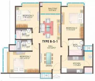 1710 sqft, 3 bhk Apartment in TVH Ouranya Bay Padur, Chennai at Rs. 16000