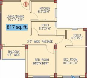 817 sqft, 2 bhk Apartment in MBPS Waterview Sonarpur, Kolkata at Rs. 22.0590 Lacs