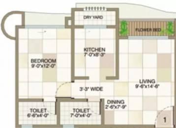 700 sqft, 1 bhk Apartment in Raj Estate Mira Road East, Mumbai at Rs. 15000