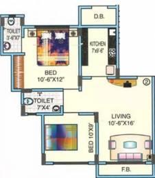 900 sqft, 2 bhk Apartment in Orbit Poonam Sunrise Mira Road East, Mumbai at Rs. 15000