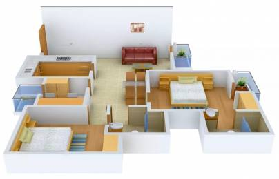 1175 sqft, 2 bhk Apartment in Logix Blossom Greens Sector 143, Noida at Rs. 10000