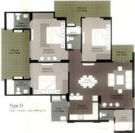 1995 sqft, 3 bhk Apartment in Gulshan Ikebana Sector 143, Noida at Rs. 22000