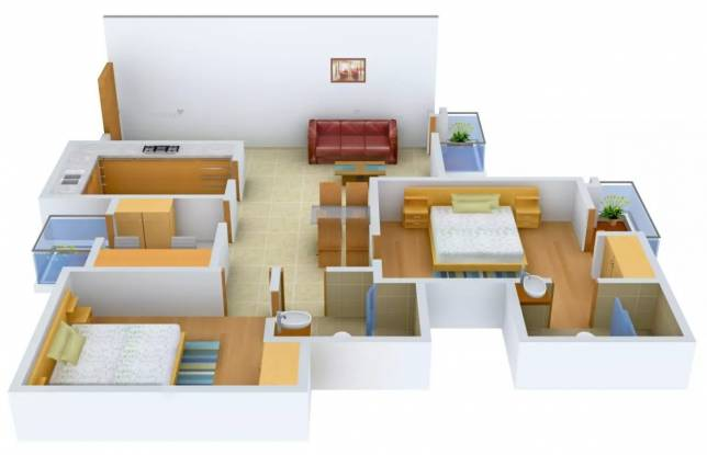 1175 sqft, 2 bhk Apartment in Logix Blossom Greens Sector 143, Noida at Rs. 55.0000 Lacs