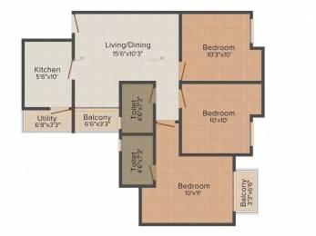 1130 sqft, 3 bhk Apartment in Paras Seasons Sector 168, Noida at Rs. 18000