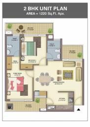 1220 sqft, 2 bhk Apartment in Builder Skyline park Vip Road Zirakpur, Chandigarh at Rs. 46.5000 Lacs