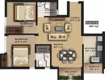 1008 sqft, 2 bhk Apartment in Sree Raja Rajeshwari Developers Vista Heights Thiruvanmiyur, Chennai at Rs. 1.3200 Cr