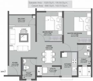 1029 sqft, 2 bhk Apartment in Godrej Azure Padur, Chennai at Rs. 38.0700 Lacs