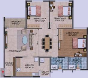 1500 sqft, 3 bhk Apartment in Purva Westend Begur, Bangalore at Rs. 1.0185 Cr