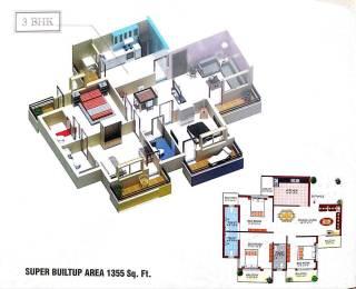1355 sqft, 3 bhk Apartment in Builder Project Amlihdih, Raipur at Rs. 37.0000 Lacs