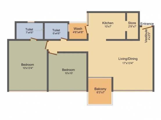1280 sqft, 2 bhk Apartment in Saanvi Sky Sol Bopal, Ahmedabad at Rs. 49.0000 Lacs