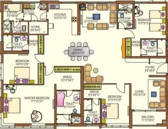 3141 sqft, 4 bhk Apartment in Lanco Hills Apartments Manikonda, Hyderabad at Rs. 70000