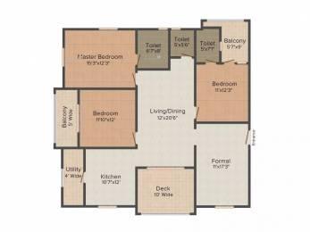 2008 sqft, 3 bhk Apartment in Jain Auroville Hitech City, Hyderabad at Rs. 65000