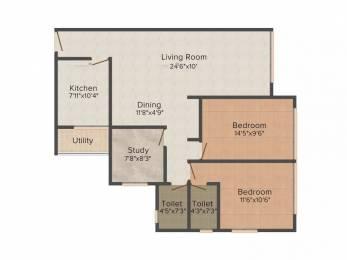 1203 sqft, 2 bhk Apartment in Sumit Sumit Garden Grove Borivali West, Mumbai at Rs. 35000