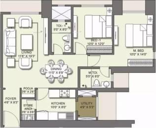1332 sqft, 2 bhk Apartment in Lodha Venezia Parel, Mumbai at Rs. 0.0100 Cr