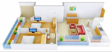 1275 sqft, 2 bhk Apartment in S Raheja SDS Raheja Residency Akatha, Varanasi at Rs. 53.0000 Lacs
