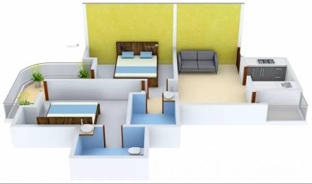 1164 sqft, 2 bhk Apartment in Stellar MI Citihomes Omicron, Greater Noida at Rs. 10500