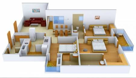 1675 sqft, 3 bhk Apartment in Logix Blossom County Sector 137, Noida at Rs. 16000