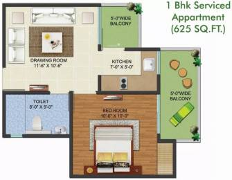 625 sqft, 1 bhk Apartment in Aadhaar Life Sector 16 Noida Extension, Greater Noida at Rs. 20.0000 Lacs