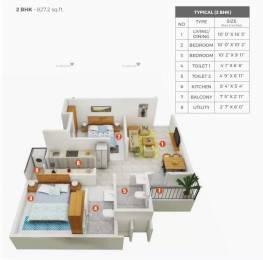 827 sqft, 2 bhk Apartment in Shriram Grand City Grand One Uttarpara Kotrung, Kolkata at Rs. 27.0000 Lacs