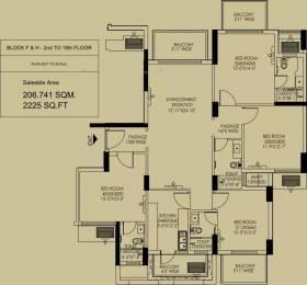 2225 sqft, 4 bhk Apartment in DLF Regal Gardens Sector 90, Gurgaon at Rs. 25000