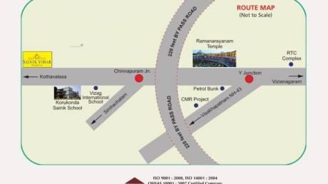 1503 sqft, Plot in Builder hiway facing venture sainik vihar Korukonda Road, Vizianagaram at Rs. 10.8550 Lacs