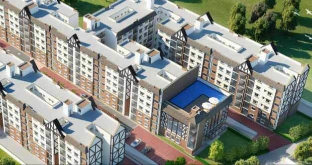 940 sqft, 2 bhk Apartment in SJR Hamilton Homes Avalahalli Off Sarjapur Road, Bangalore at Rs. 44.0000 Lacs