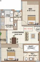 922 sqft, 2 bhk Apartment in Ahad Meadows Sarjapur Road Wipro To Railway Crossing, Bangalore at Rs. 50.0000 Lacs