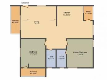 1280 sqft, 2 bhk Apartment in Goldstone Maple Homes Narsingi, Hyderabad at Rs. 64.0000 Lacs