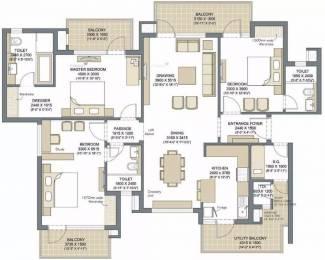 2285 sqft, 3 bhk Apartment in Microtek Greenburg Sector 86, Gurgaon at Rs. 1.4000 Cr