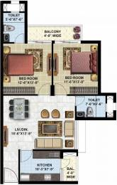 1190 sqft, 2 bhk Apartment in Omaxe Twin Tower Dad Village, Ludhiana at Rs. 51.7778 Lacs