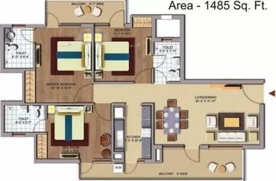 1485 sqft, 3 bhk Apartment in CHD Avenue 71 Sector 71, Gurgaon at Rs. 22500