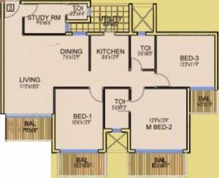 1642 sqft, 3 bhk Apartment in Dhoot Time Residency Sector 63, Gurgaon at Rs. 1.1600 Cr