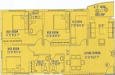 1751 sqft, 3 bhk Apartment in Space Silver Spring Tangra, Kolkata at Rs. 2.2000 Cr