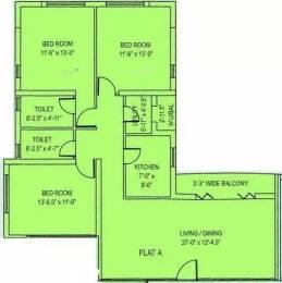 1435 sqft, 3 bhk Apartment in Diamond City South Tollygunge, Kolkata at Rs. 3.6000 Lacs