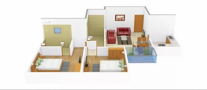 885 sqft, 2 bhk Apartment in Aspira Loharuka Freshia 2 Rajarhat, Kolkata at Rs. 37.0000 Lacs