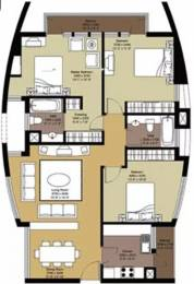 1693 sqft, 3 bhk Apartment in Unitech Heights New Town, Kolkata at Rs. 20000