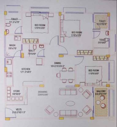 2034 sqft, 3 bhk Apartment in  Metrocity Chandkheda, Ahmedabad at Rs. 75.0000 Lacs
