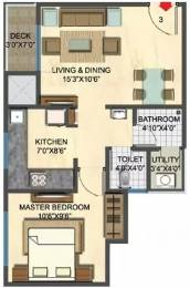 639 sqft, 1 bhk Apartment in Lodha Casa Rio Dombivali, Mumbai at Rs. 9000