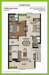 940 sqft, 2 bhk Apartment in SBP Homes Sector 126 Mohali, Mohali at Rs. 28.9000 Lacs