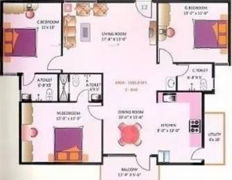 1585 sqft, 3 bhk Apartment in Mitra Symphony KR Puram, Bangalore at Rs. 22000