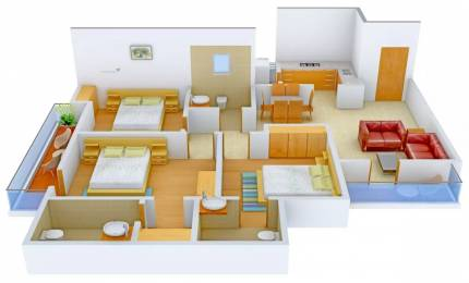 1450 sqft, 3 bhk Apartment in Omaxe Residency Gomti Nagar Extension, Lucknow at Rs. 15000