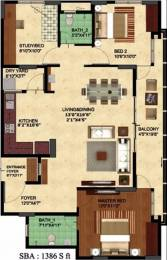 1386 sqft, 2 bhk Apartment in Oceanus Tranquil Ramamurthy Nagar, Bangalore at Rs. 65.0000 Lacs