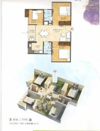 917 sqft, 3 bhk Apartment in Bony Dreams Sanganer, Jaipur at Rs. 22.7500 Lacs