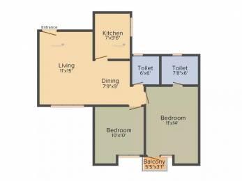 937 sqft, 2 bhk Apartment in Unitech Uniworld Gardens 2 Sector 47, Gurgaon at Rs. 26000
